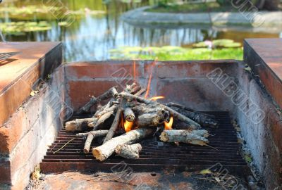 Starting a wood fired oven