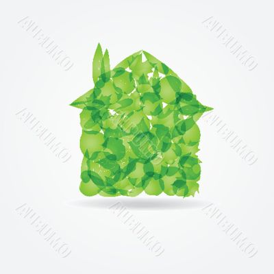 Ecological concept. Small green house
