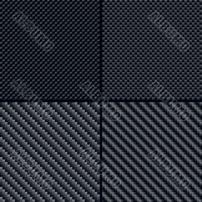 Carbon fiber seamless patterns set