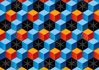 Child bricks 3D pattern