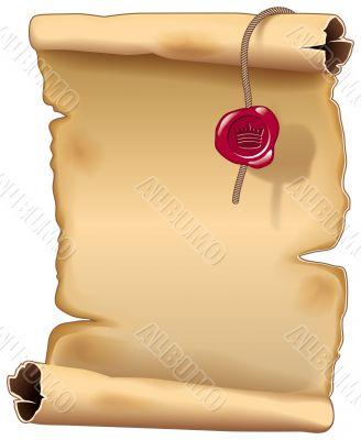 Ancient parchment scroll