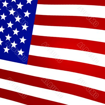 3D Rendered United States Flag