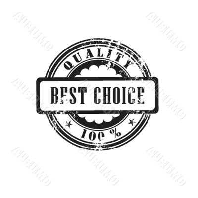 Rubber stamp `best choice` in vector