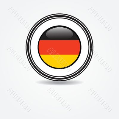 Label Germany flag in rubber stamp