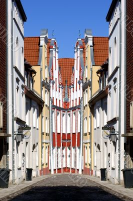 Stralsund Old Town abstract