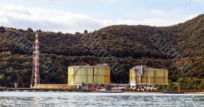 Rusty industry silos