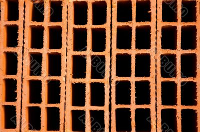 Hollow clay brick background