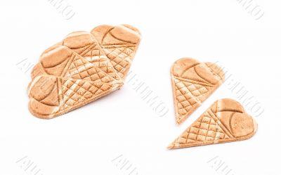 Wafer ice cream cone decoration