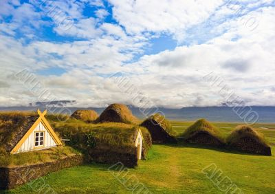 Turfed housing in Iceland