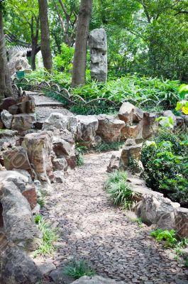 Zen path gardening