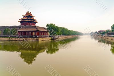 Moat outside foridden city in Beijing