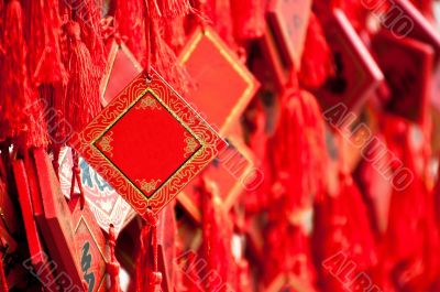 Blank paper Prayer wish tag in chinese Temple