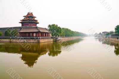 Moat outside foridden city in Beijing