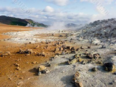 Iceland desert landscape
