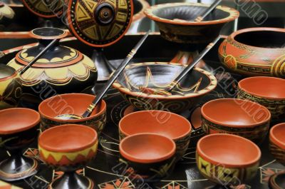 Chinese set of soup cup
