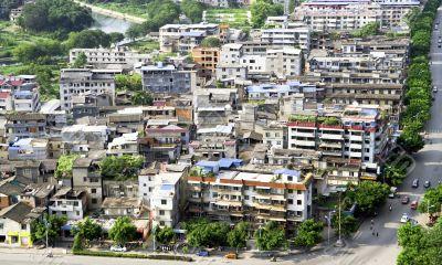 Chinese slum area district