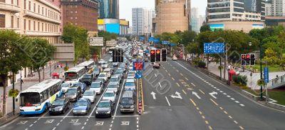 Traffic jam in Shanghai
