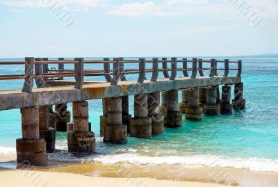 Tropical pier on island