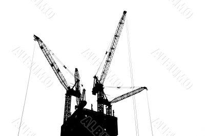 Silhouette Crane