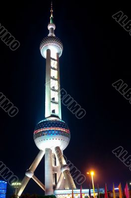 Oriental Peral tower at night
