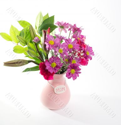 Pink Mother`s Day Flowers