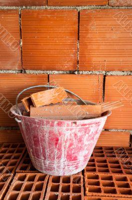 Masonry Bucket on hollow bricks