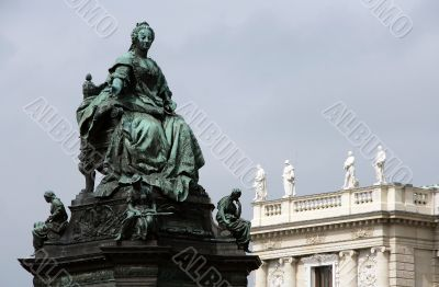 Maria Theresia statue in Vienna