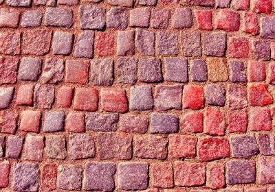 Close up of the old stonewall