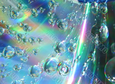Drops of water on the compact disk