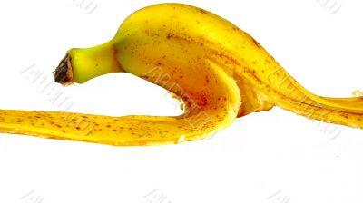 Banana skin isolated on a white background
