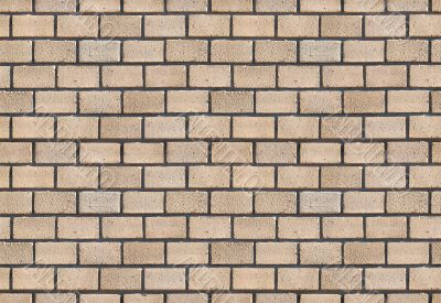 Beige brick wall.