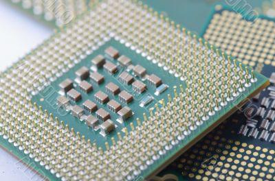 Computer processor close up