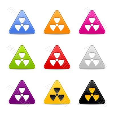 Multicolored signs of radiation