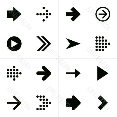 Black directional arrows