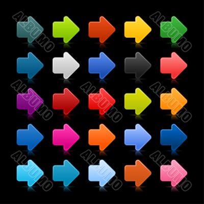Multicolored directional arrows