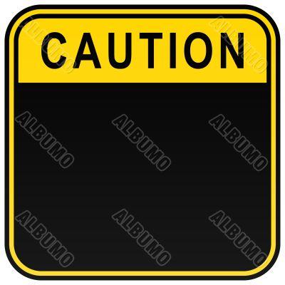 """Inscription """"Caution"""""""