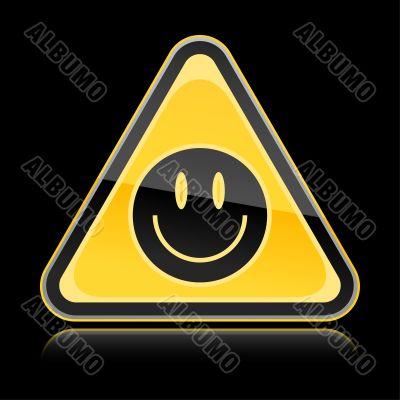 Sign black smiley