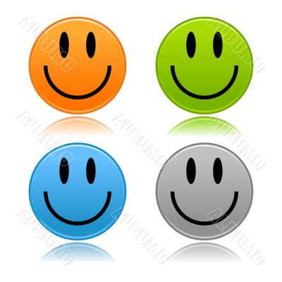 Multi-colored smileys