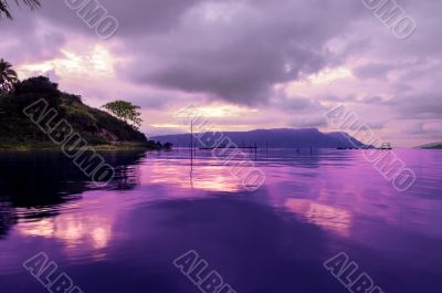 Early Morning on Toba Lake.
