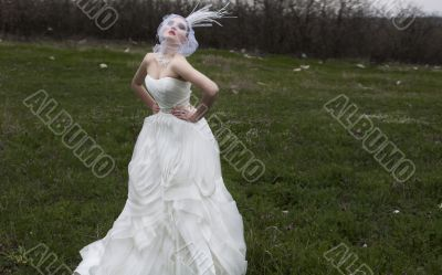 girl in a wedding dress