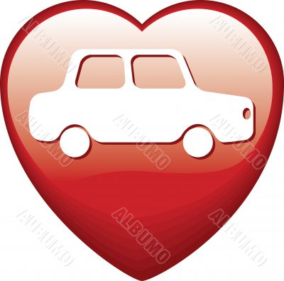 Heart Shape with car
