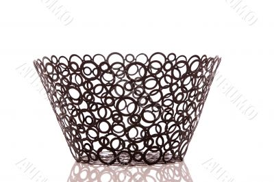 Black steel basket