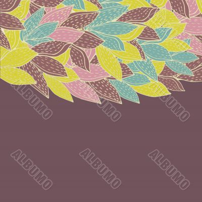 Floral pattern in autumn colors