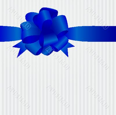 Decorative ribbon and bow on a background