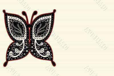 Various vector butterflies on  background