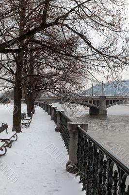 Embankment of river Vltava