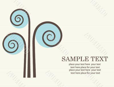 Abstract tree. Retro card