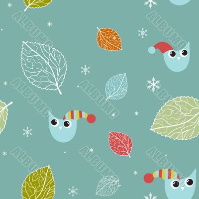 Vintage seamless background with birds