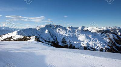 Schmitten winter ski slopes of Zell am See resort