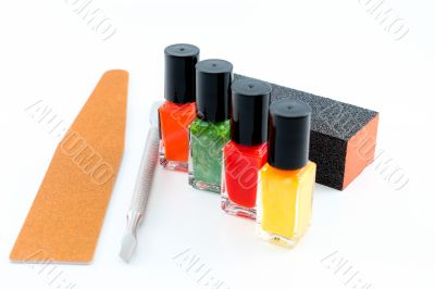 Getting ready for a manicure